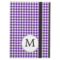 Personalized Monogram Indigo Houndstooth Pattern Case For iPad Air