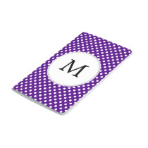 Personalized Monogram Indigo Polka Dots Pattern Journal
