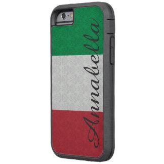 Personalized Monogram Italian Flag Damask Pattern Tough Xtreme iPhone 6 Case