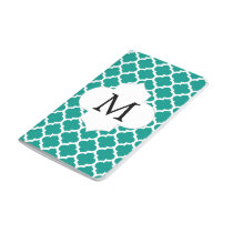 Personalized Monogram Jade Quatrefoil Pattern Journal