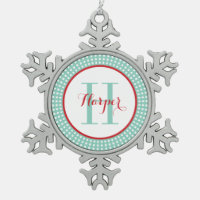 Personalized Monogram Keepsake Ornament