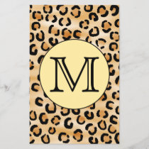 Personalized Monogram Leopard Print Pattern.