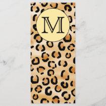 Personalized Monogram Leopard Print Pattern.