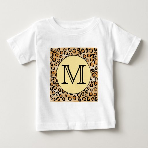 Personalized monogram leopard print pattern baby t shirt for Leopard print shirts for toddlers