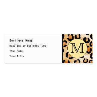 Personalized Monogram Leopard Print Pattern. Business Cards