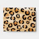 Personalized Monogram Leopard Print Pattern. Envelopes