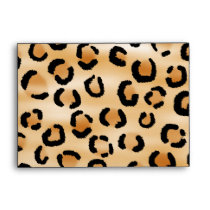 Personalized Monogram Leopard Print Pattern. Envelope