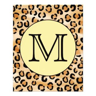 Personalized Monogram Leopard Print Pattern. Flyer