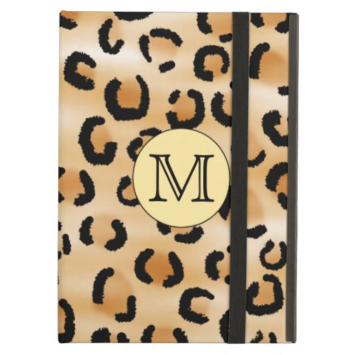 Personalized Monogram Leopard Print Pattern. Cover For iPad Air