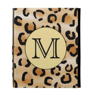 Personalized Monogram Leopard Print Pattern. iPad Folio Covers