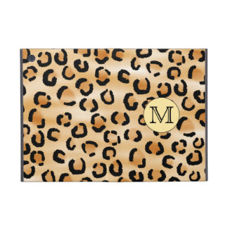 Personalized Monogram Leopard Print Pattern. iPad Mini Cover