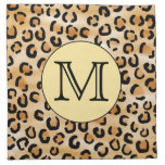 Personalized Monogram Leopard Print Pattern. Printed Napkin