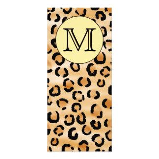 Personalized Monogram Leopard Print Pattern. Custom Rack Card