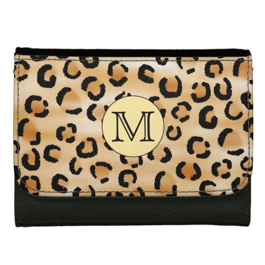 Personalized Monogram Leopard Print Pattern. Wallet