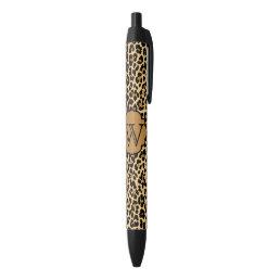 Personalized Monogram Leopard Print Pens