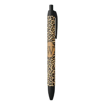 theburlapfrog Personalized Monogram Leopard Print Pens