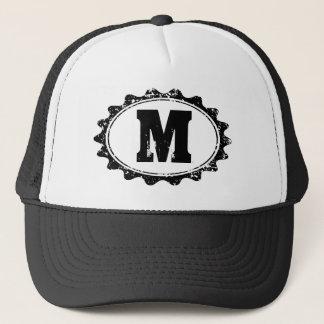 Personalized monogram letter baseball hat