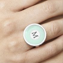 Personalized Monogram Mint double rings pattern