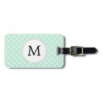 Personalized Monogram Mint double rings pattern Bag Tag