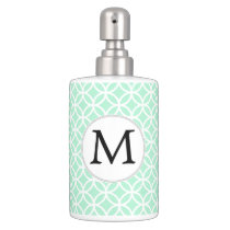 Personalized Monogram Mint double rings pattern Bath Set