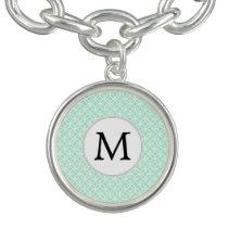 Personalized Monogram Mint double rings pattern Bracelet