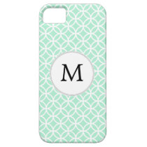 Personalized Monogram Mint double rings pattern iPhone SE/5/5s Case