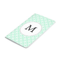 Personalized Monogram Mint double rings pattern Journal