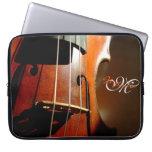 Personalized Monogram Music Violin Laptop Sleeve