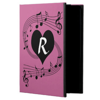 Personalized Monogram Musical notes heart Powis iPad Air 2 Case