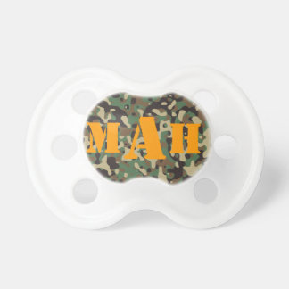 Personalized Monogram Name Pixel Camouflage Pacifier
