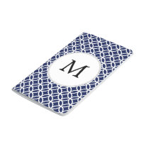 Personalized Monogram navy blue rings pattern Journal
