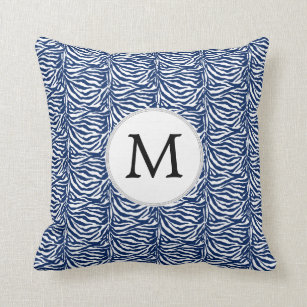 Blue Zebra Pillows Decorative Amp Throw Pillows Zazzle