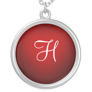 Personalized Monogram Necklace Heart Inset