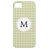 Personalized Monogram Olive houndstooth Pattern iPhone SE/5/5s Case