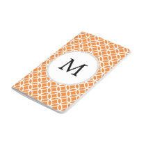 Personalized Monogram Orange double rings pattern Journal