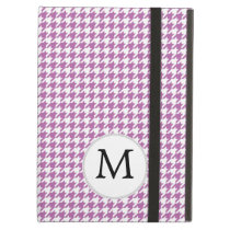 Personalized Monogram Orchid Houndstooth Pattern Case For iPad Air