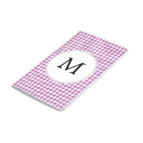 Personalized Monogram Orchid Houndstooth Pattern Journal