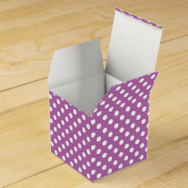 Personalized Monogram Orchid Polka Dots Pattern Favor Box