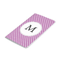 Personalized Monogram Orchid Polka Dots Pattern Journal