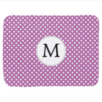 Personalized Monogram Orchid Polka Dots Pattern Swaddle Blanket
