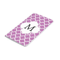 Personalized Monogram Orchid Quatrefoil Pattern Journal