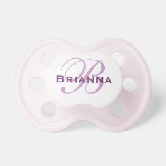 Personalized Monogram Pacifier at Zazzle