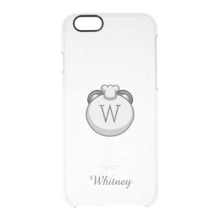 Personalized Monogram Panda   Elegant White Clear iPhone 6/6S Case
