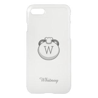 Personalized Monogram Panda   Elegant White iPhone 8/7 Case