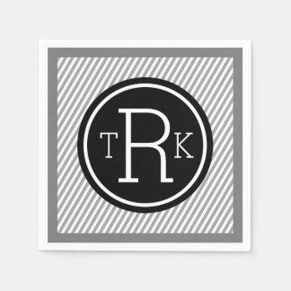 Personalized Monogram Paper Party Napkins Standard Cocktail Napkin