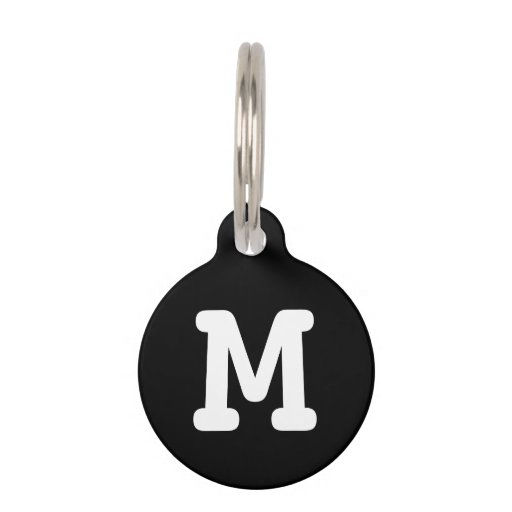 Personalized monogram pet tag for dogs and cats