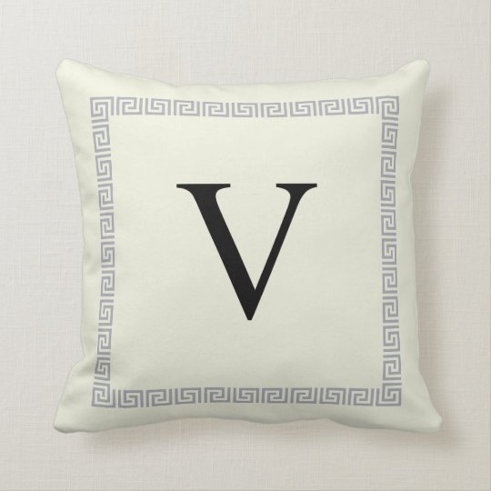 Personalized Monogram Pillow   Initial V