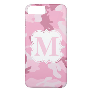 Personalized Monogram Pink Camouflage Pattern iPhone 8 Plus/7 Plus Case