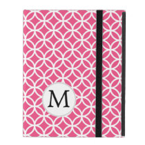 Personalized Monogram Pink Double Rings iPad Case