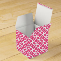 Personalized Monogram Pink rings pattern Favor Box